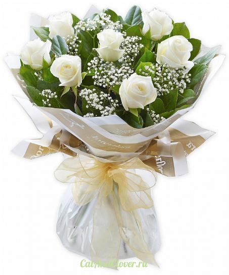 Букет белых роз в Волгограде