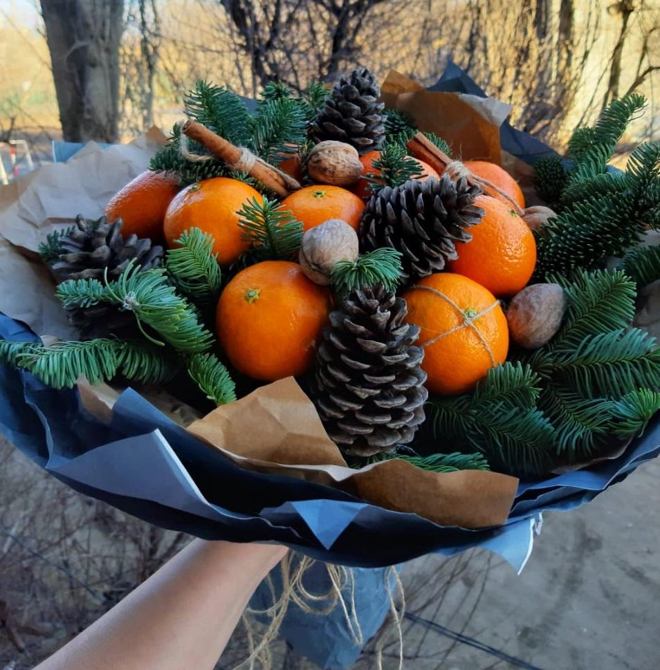 Букет с мандаринами в Волгограде