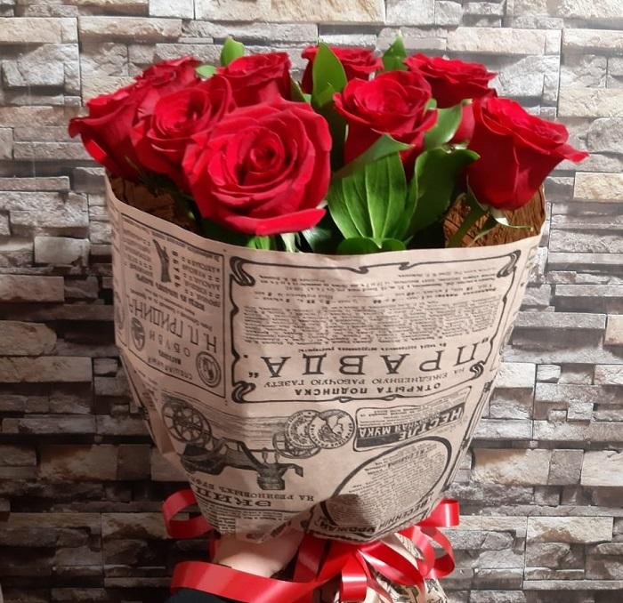 Букет красных роз в Волгограде